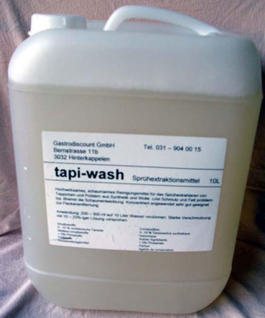 Tapi wash Teppichshampoo Bidon à 10 Kg – Gastrodiscount GmbH
